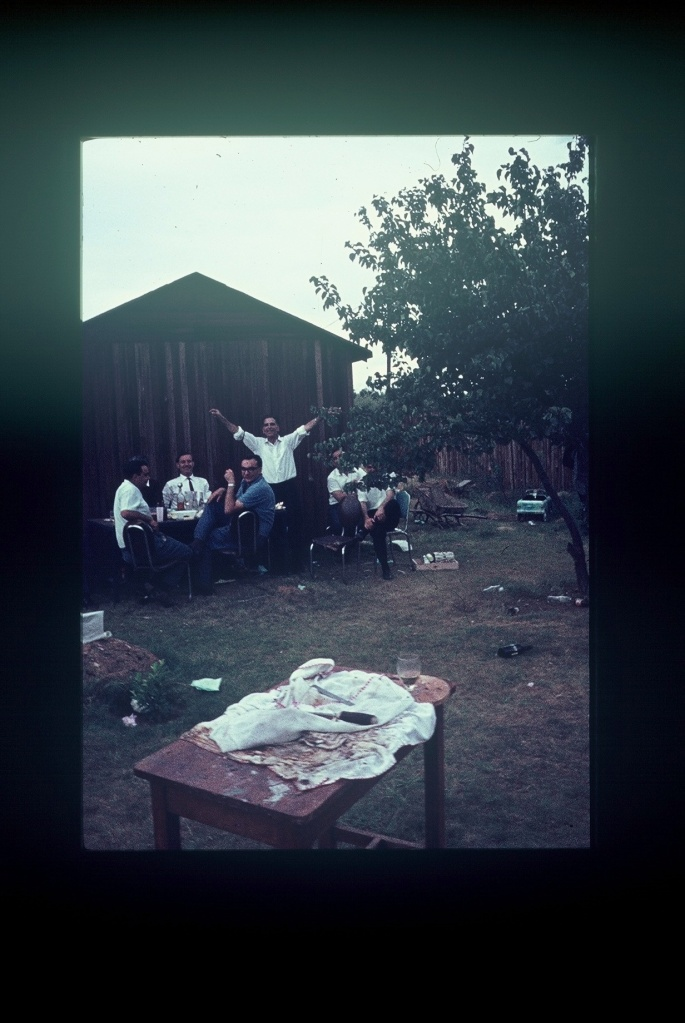 Dancing in front of the old Kalajuka, Easter circa 1965