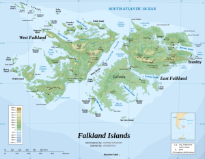 Map of the Malvinas
