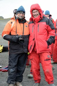 Ira Meyer (left) and me in full kit before the swim.