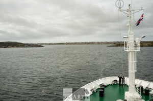 Entering the bay of Port Stanley