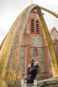 Whalebone rib monument