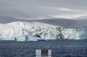 Cool blue icebergs