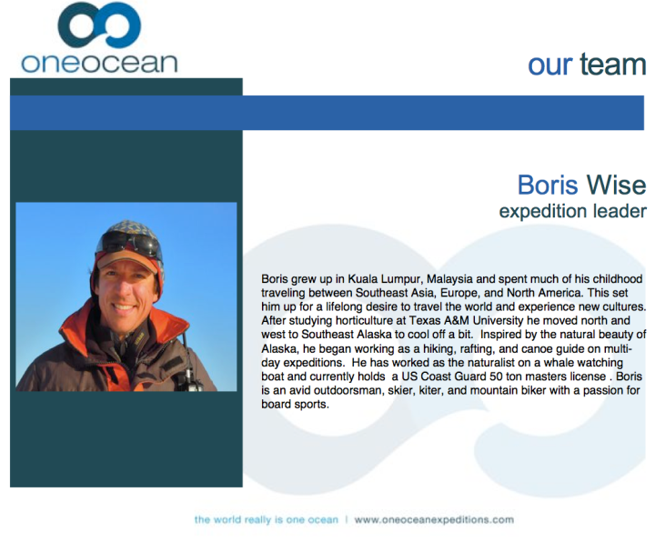 Boris Wise: Expedition Leader