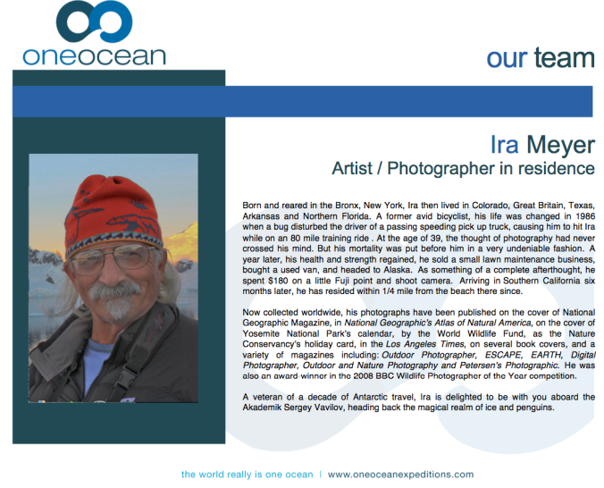 Ira Meyer: a wise and interesting photographer