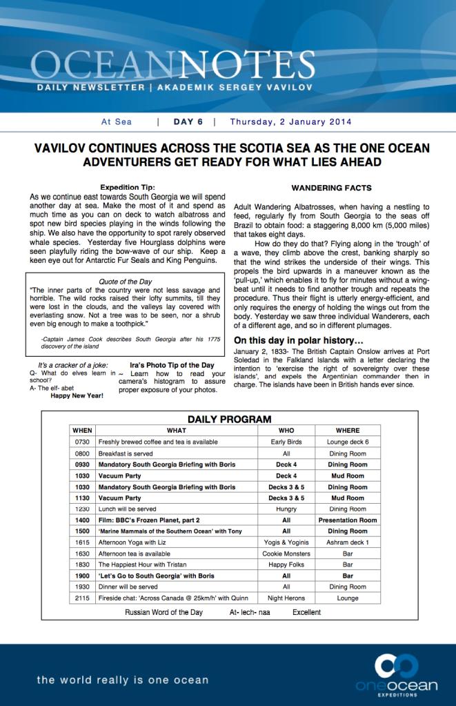 Ocean Notes Day 6