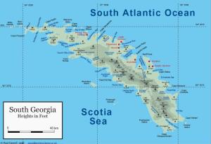 Map of South Georgia