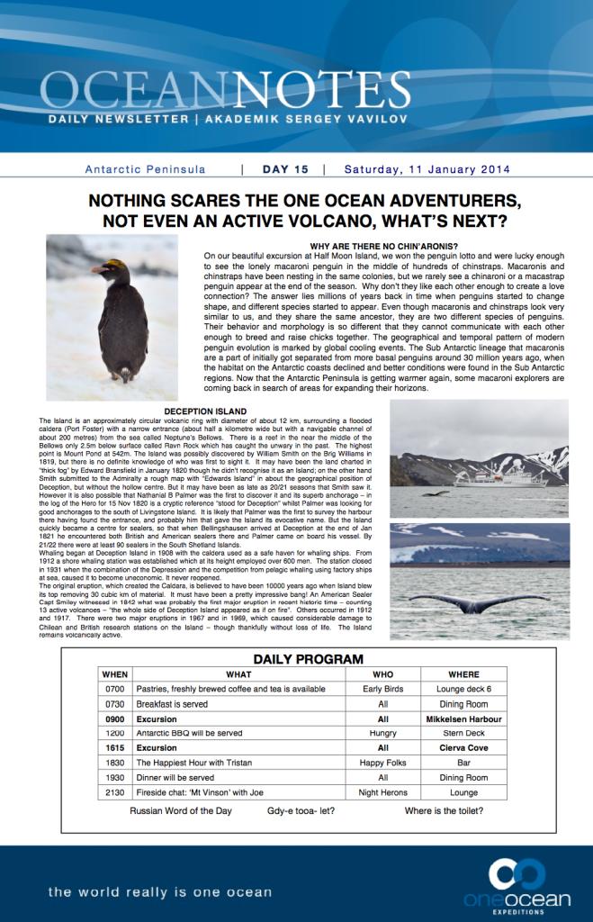 Ocean Notes Day 15