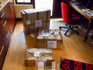 The equipment from Ivor Ginsberg arrived in three boxes